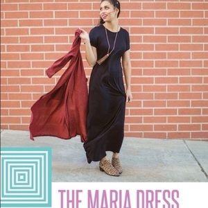 NWT Maria solid black maxi dress 2X rare find
